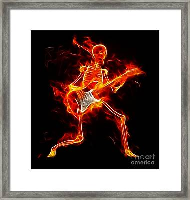 Music To The Death Framed Print by Pamela Johnson