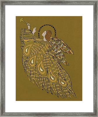 Musical Angel Framed Print