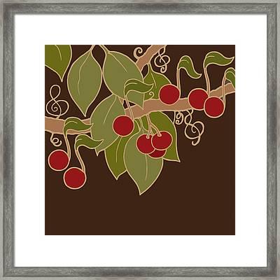 Musical Cherries Framed Print