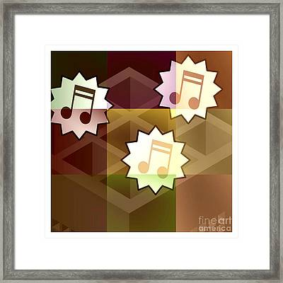 Musical Notes Framed Print by Holley Jacobs
