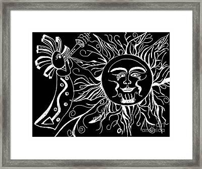 Musical Sunrise - Inverted Framed Print by Maria Urso
