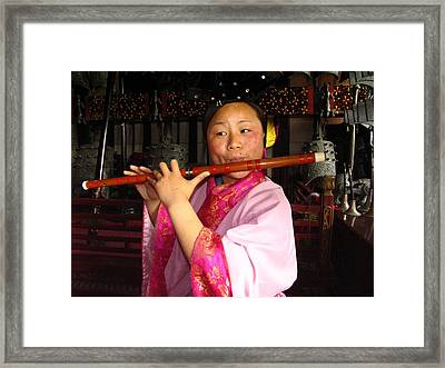 Musicians Perform On Traditional Framed Print by Richard Nowitz