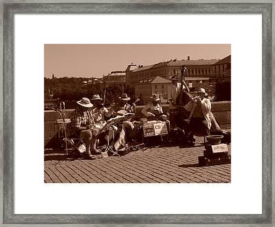 Musicos Framed Print by Luis oscar Sanchez