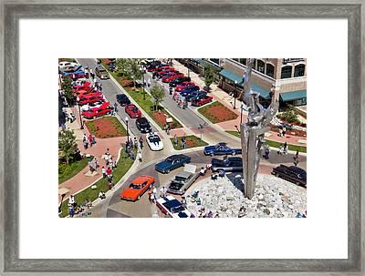 Muskegon Hot Rod Power Tour Framed Print by Joe Gee
