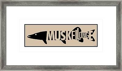 Muskellunge Framed Print by Geoff Strehlow