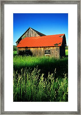 Muskoka Barn Framed Print by John  Bartosik