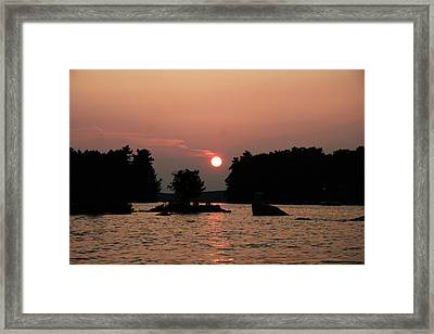 Muskoka Sunset Framed Print by Carolyn Reinhart