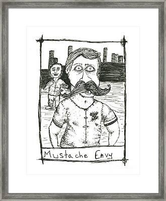 Mustache Envy Framed Print by Michael Mooney
