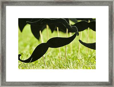 Mustache On A Stick 1 Framed Print by Micah May
