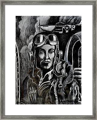 Mustang Aces Framed Print by Bob Crawford