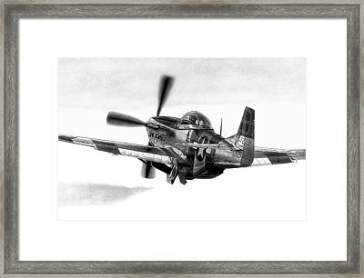 Mustang Away Framed Print by Lyle Brown