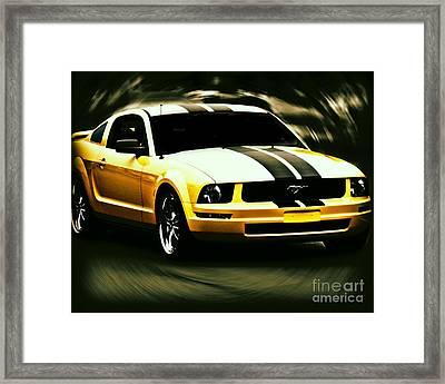 Mustang Framed Print by Emily Kelley
