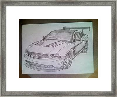 Mustang Framed Print by Lucia Vratiakova