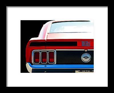 Vintage Ford Mustang Framed Prints