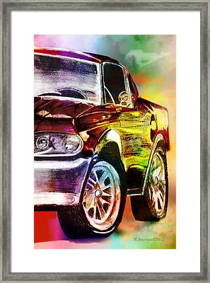 Mustang_2 Framed Print by Whitney Bruneau