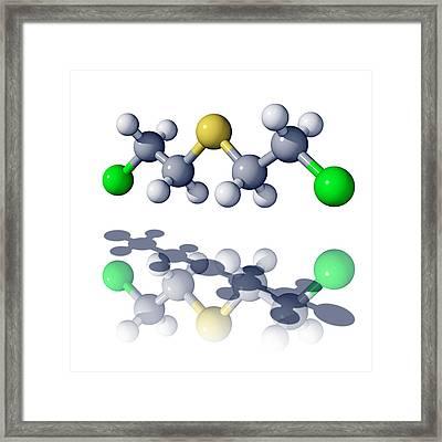Mustard Gas Molecule Framed Print by Laguna Design