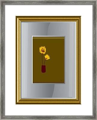 Mustard Vase Framed Print by Ines Garay-Colomba