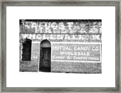 Mutual Candy Company Framed Print by Jan Amiss Photography
