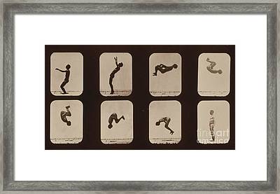 Muybridge Locomotion, Back Somersault Framed Print by Photo Researchers