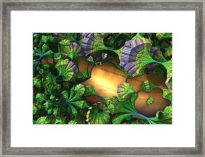 My Alien Garden Framed Print by Charles Jr Kunkle