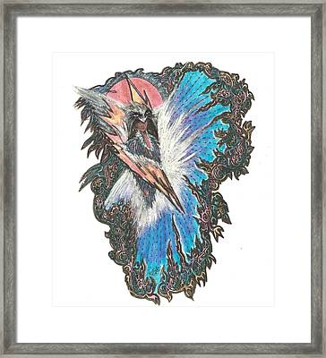 My Angel Guidance Framed Print by Anne Marie Borgelioen