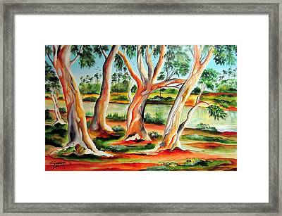 Framed Print featuring the painting My Australia Passion by Roberto Gagliardi
