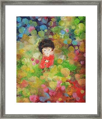Framed Print featuring the painting My Babe by Becky Kim
