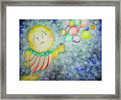 My Baloons Framed Print by Asida Cheng