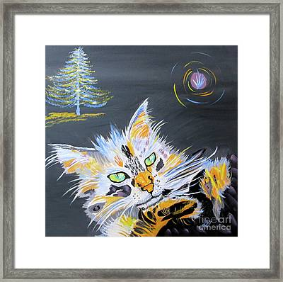 My Calico Cat Wizard Framed Print by Phyllis Kaltenbach