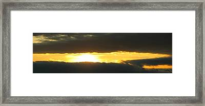 My Cloudy Sunset Framed Print
