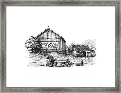 My Coke Barn Framed Print by Daniel Paul Murphy