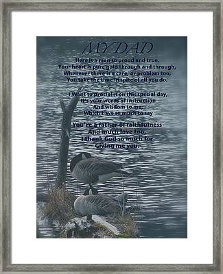 My Dad Poem Framed Print