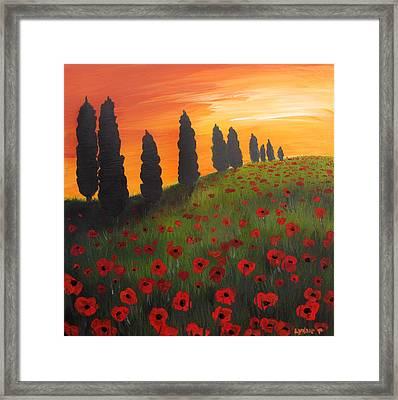 My Dear Tuscany Framed Print by Lynsie Petig