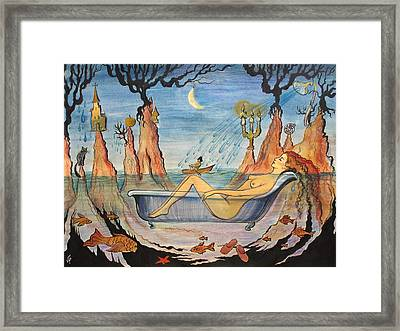 Framed Print featuring the painting My Dream by Valentina Plishchina