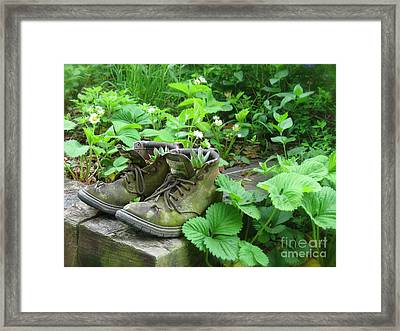 Framed Print featuring the photograph My Favorite Boots by Nancy Patterson