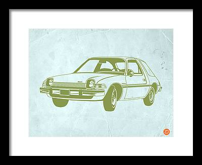 Car Interior Drawings Framed Prints