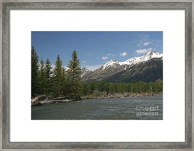 Framed Print featuring the photograph My Favorite Of The Grand Tetons by Living Color Photography Lorraine Lynch