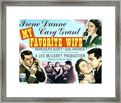 My Favorite Wife, Cary Grant, Randolph Framed Print