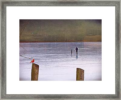 My First Walk On Water Framed Print