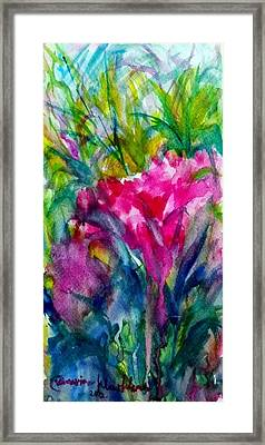 My Flowers  Framed Print
