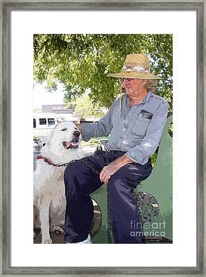 My Friend Bud Framed Print by David Carter