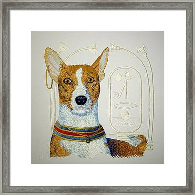 My Friend Jazz Framed Print by Barbara Lugge