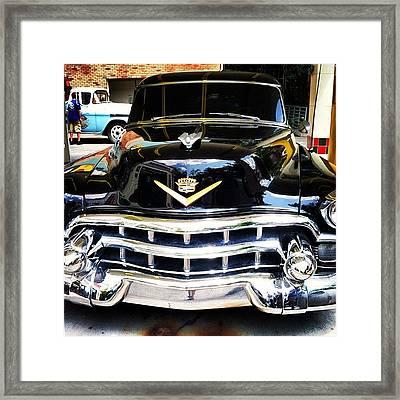 My Friend Redid This Car ,  #oldie #car Framed Print