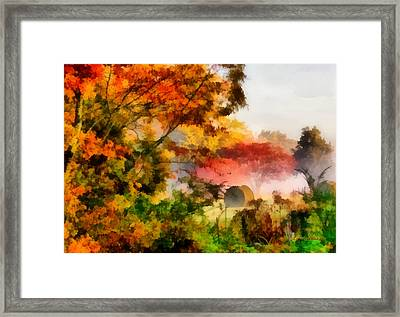 Framed Print featuring the painting My Front Yard by Lynne Jenkins