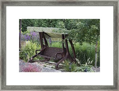My Garden 4 Framed Print