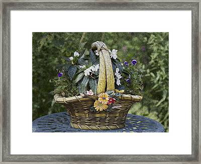 My Garden 5 Framed Print by Michel DesRoches