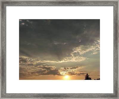 My Golden Sunrise Framed Print
