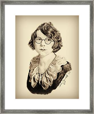 My Grandmother Stella  Framed Print by Judy Garrett