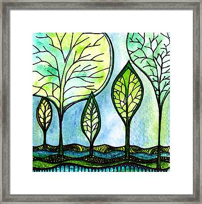 My Green Valley Framed Print by Robin Mead