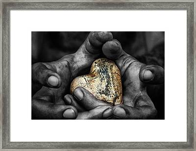 My Hands Your Hard Framed Print by Stelios Kleanthous